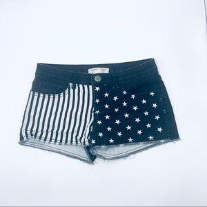 Stars & Stripes Jean Shorts, Size 7, EUC